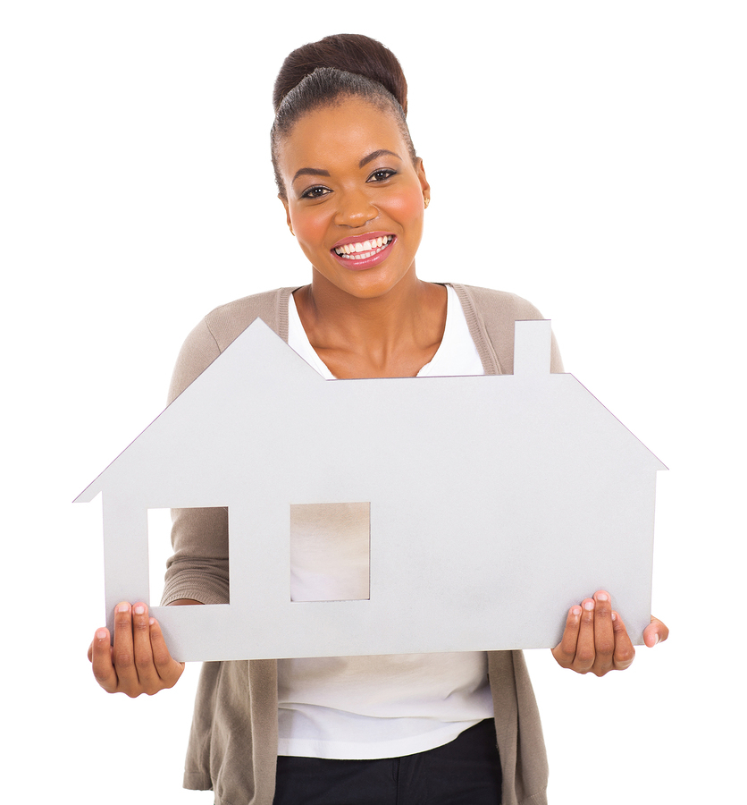 woman_holding_house_shaped_sign